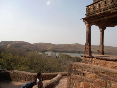 Chhatri at Ranthambhore Fort in Ranthambhore National Park, Rajasthan