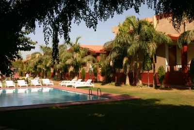 Swimming pool at Ranthambhore Regency